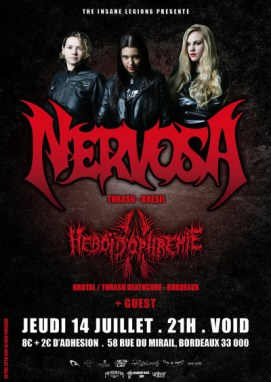 Incoming: Nervosa @ Void (Bordeaux)