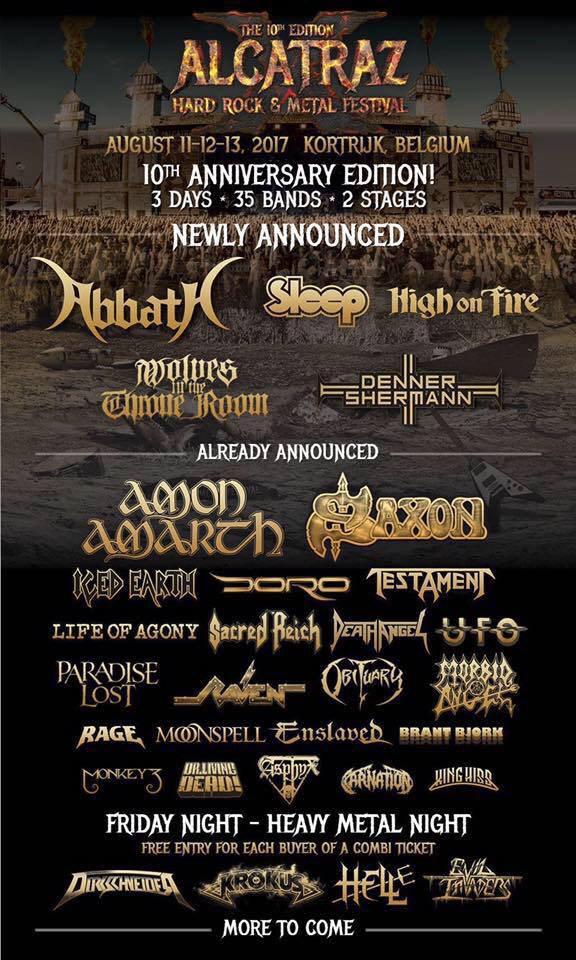 ALCATRAZ Festival : Nouveaux groupes à l'affiche