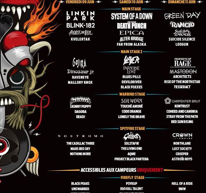 Download Festival France 2017 Le Line Up complet