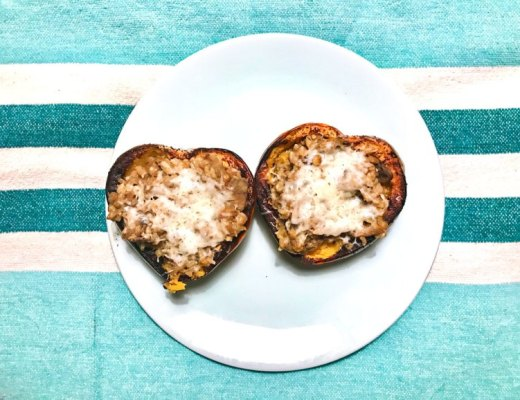 Curried lentil stuffed acorn squash