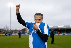 New Bristol Rovers President Wael Al-Qadi and his family are introduced to the Memorial Stadium at half time after the previous days announcement his family has taken a 92 percent stake in the club - Mandatory byline: Rogan Thomson/JMP - 07966 386802 - 20/02/2016 - FOOTBALL - Memorial Stadium - Bristol, England - Bristol Rovers v Morecambe - Sky Bet League 2.