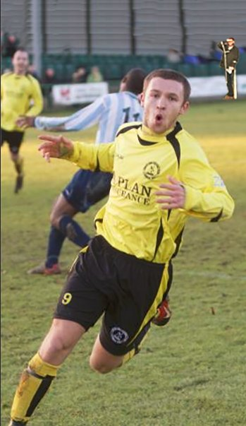 Terry Nutkin pictured spotting Matty Taylor playing for North Leigh.