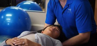 Patient receiving Chiropractic care at Thornhill Total Rehab and Chiropractic clinic