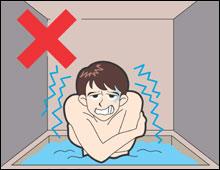 水風呂の危険な入り方
