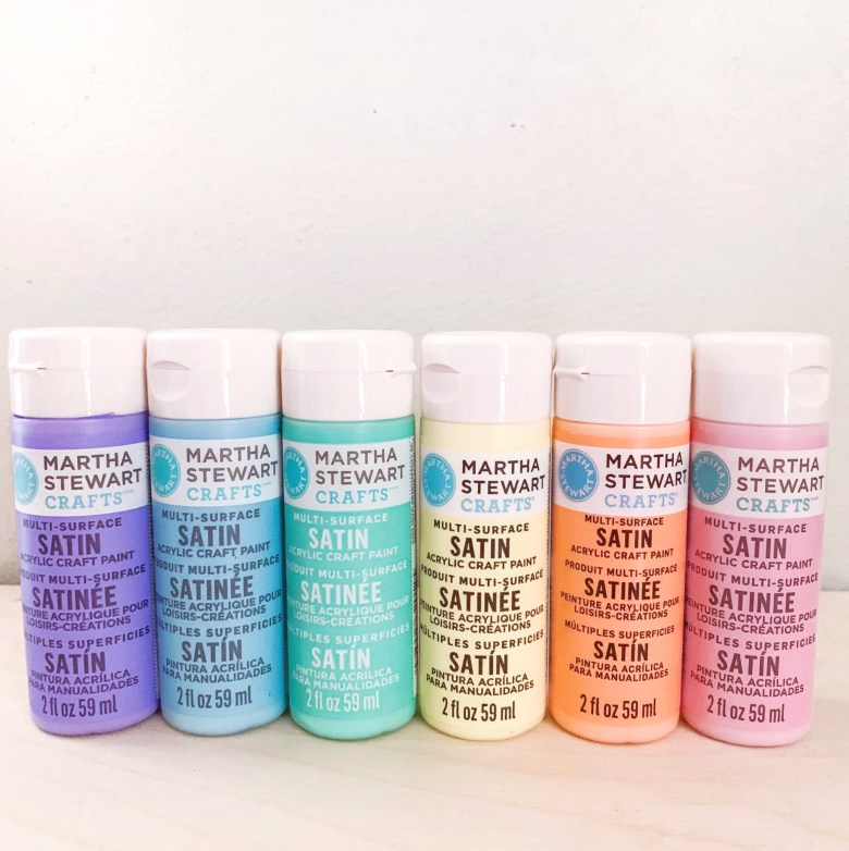 Pastel Rainbow Acrylic Paints