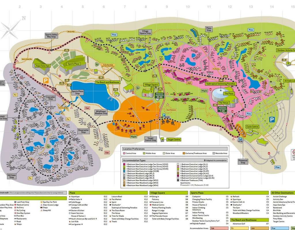 Center Parcs Longleat Map