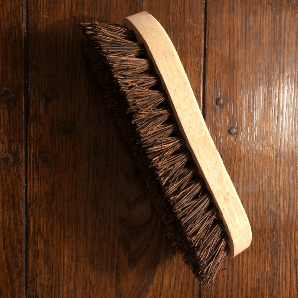 wooden hand scrubbing brush