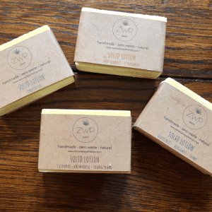 Plastic free solid lotion bar