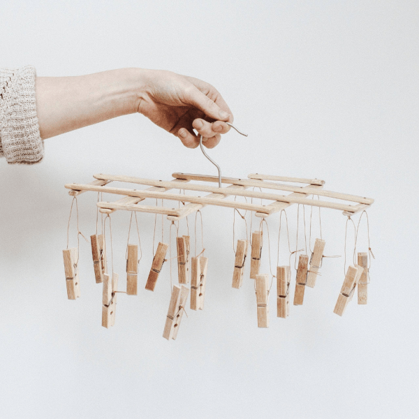 Wooden Laundry Peg Airer
