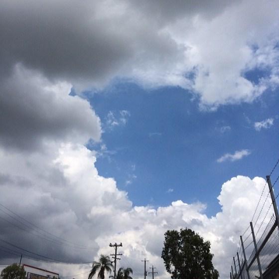 Monday skies