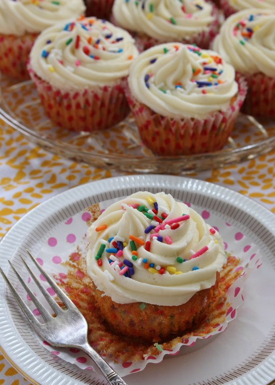 Sprinkle Birthday Cake Cupcakes | Gluten Free | Thoroughly Nourished Life