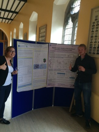 Anna and Bjorn at their posters