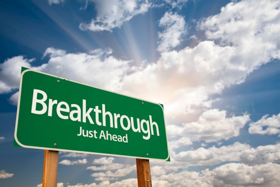 Your-breakthrough-is-up-ahead-signpost-beautiful-sky
