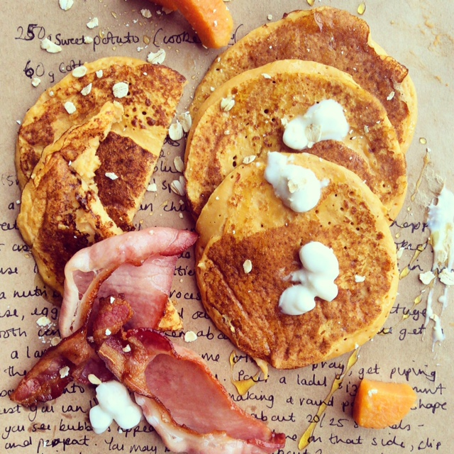 -sweet-potato-and-cottage-cheese-pancakes