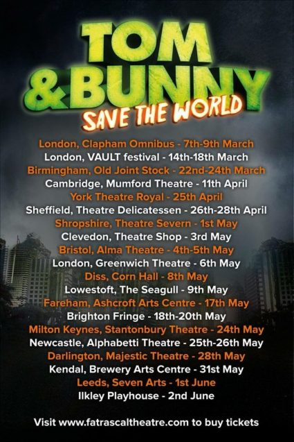 comedy-theatre-tom-and-bunny-save=the-world-fat-rascal-theatre