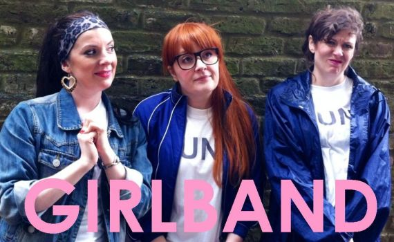 THOSE THREE GIRLS, COMEDY WRITER PERFORMERS, FUNNY WOMEN, FEMALE COMEDY, GIRLBAND, GUNT, BRITISH COMEDY GUIDE