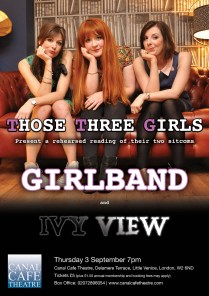 those three girls, comedy, female comedy writers, girlband, canal cafe theatre, carly sheppard, lucy barnett, susannah adele, funny women