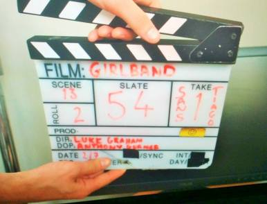 THOSE THREE GIRLS, COMEDY WRITER PERFORMERS, FUNNY WOMEN, FEMALE COMEDY, GIRLBAND, CLAPPER BOARD