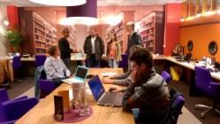 Samir Lahiri, co-initiator, explaining how things work at the lab