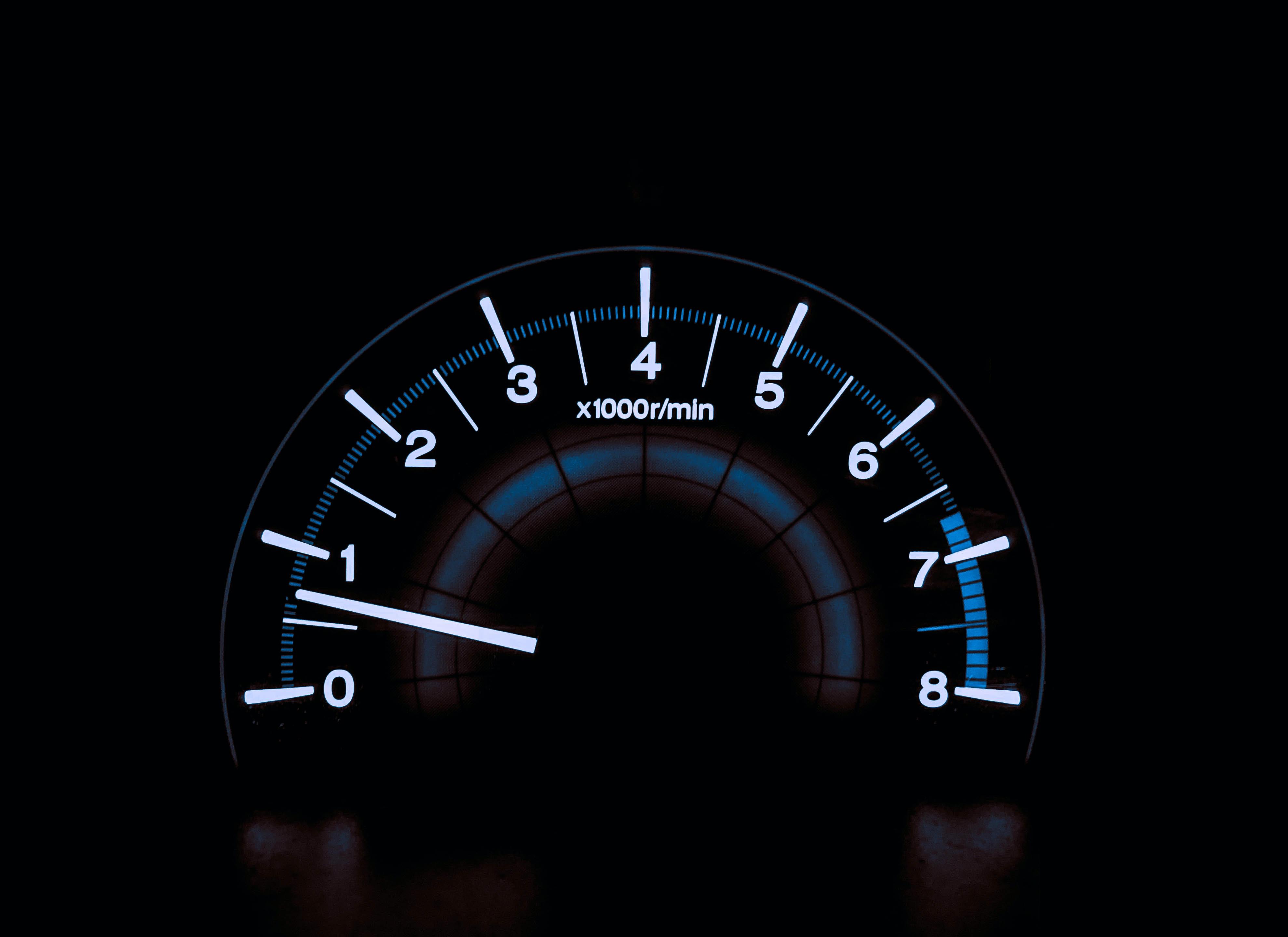 A tachometer at .75.