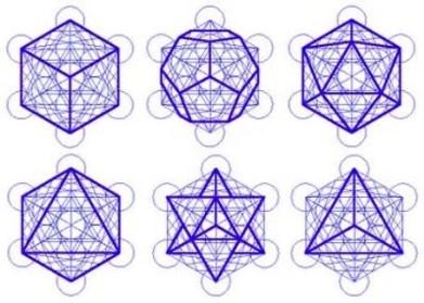 cinco+s%C3%B3lidos+plat%C3%B4nicos-e-o-tetraedro Geometria Sagrada, a Flor da Vida e a Linguagem da Luz.