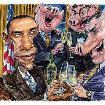 obama-presidentpuppet-and-banksters