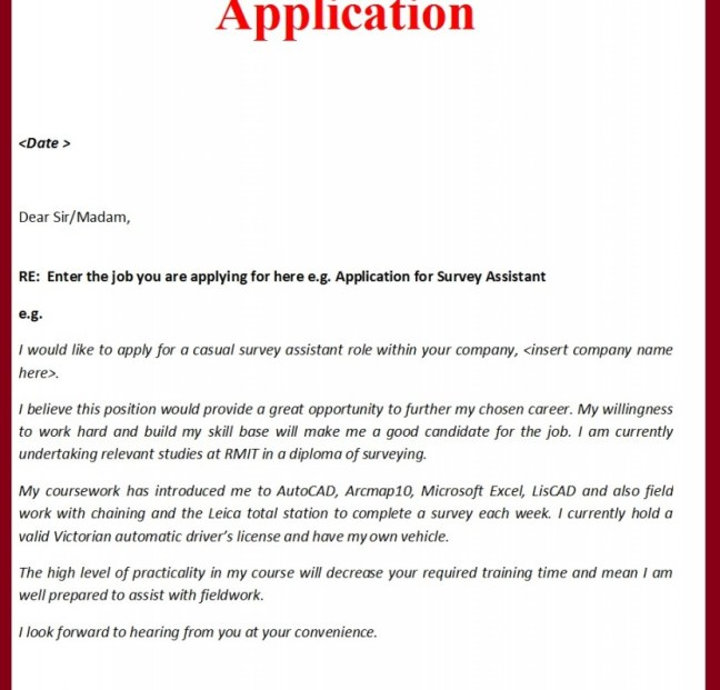 Cover Letter Building | Thought At Work
