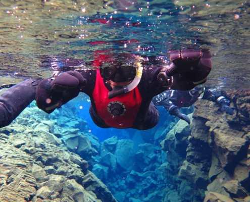 Snorkeling Silfra in Iceland