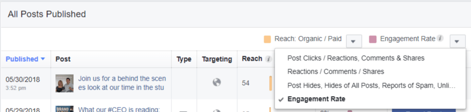 Facebook Individual Post Insights