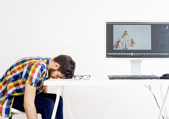 Stressed video editor
