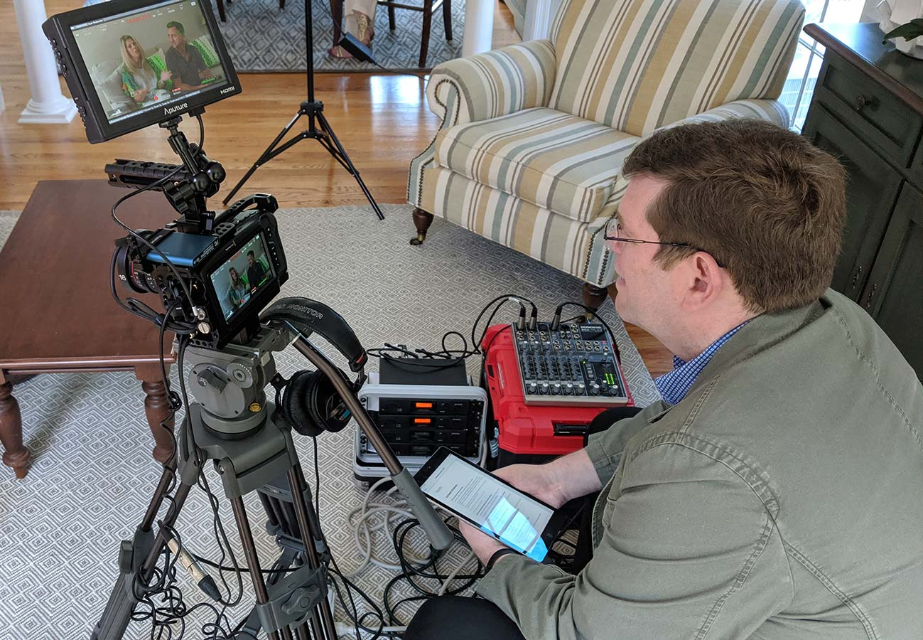 Thoughtcast Media on Set of Video Shoot