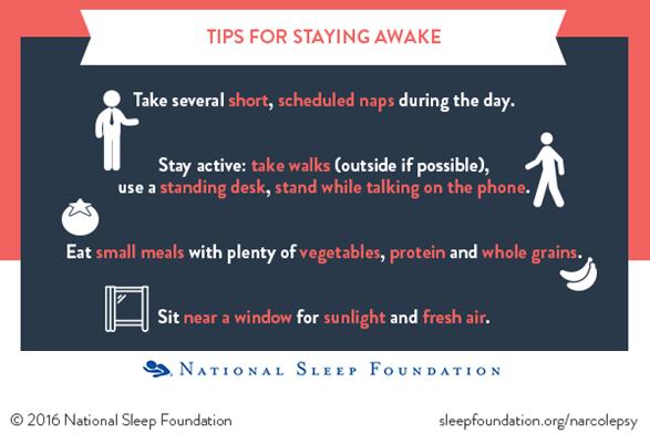 Tips for staying awake