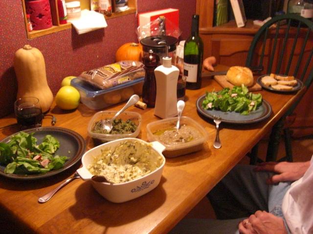 What is baba ghanoush, pesto, and radish green artichoke dip.