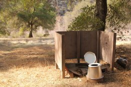 Such a scenic little pit toilet in the middle of nowhere!