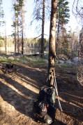 Leaving camp at Harden Lake