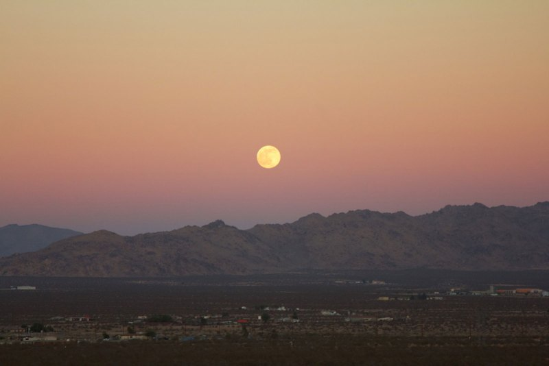 Moon over the Mojave
