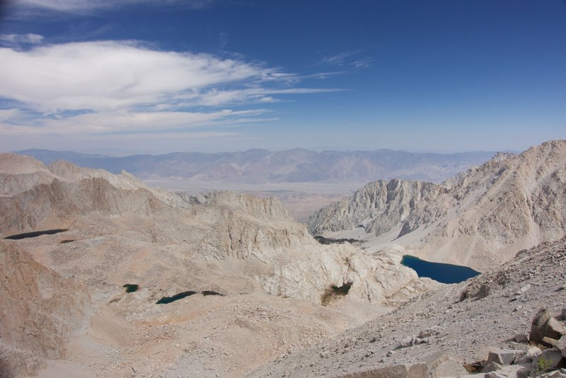 Looking 10,000' below to the Owens Valley