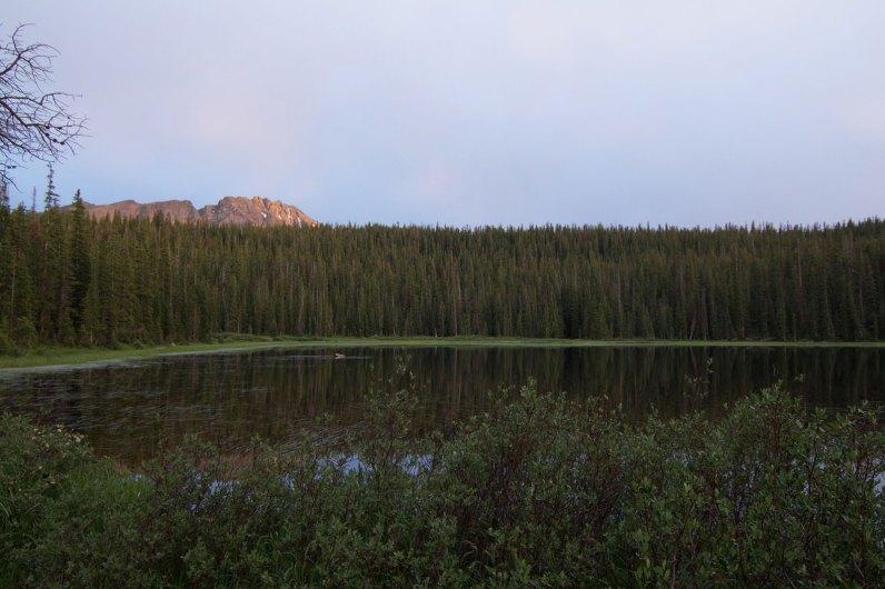 A little alpenglow on Eagles Nest Peak