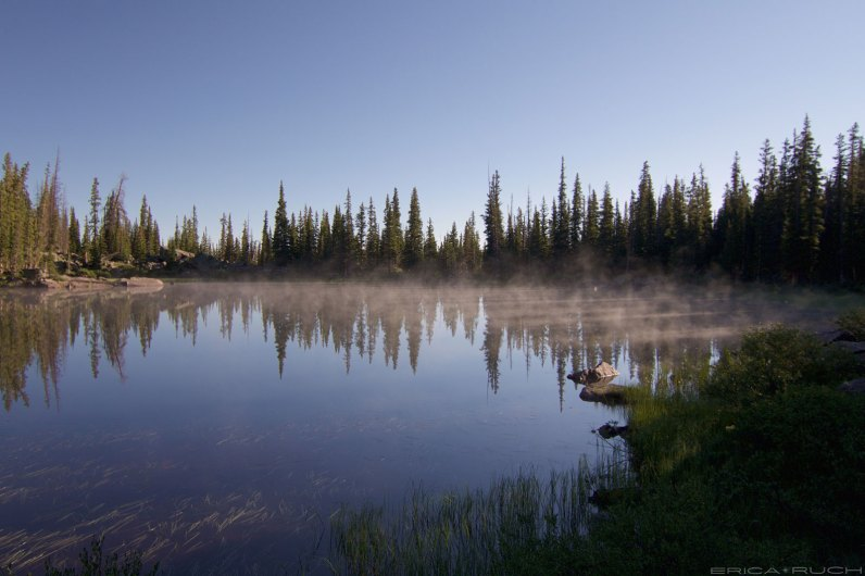 Eaglesmere Lake - Steamy morning