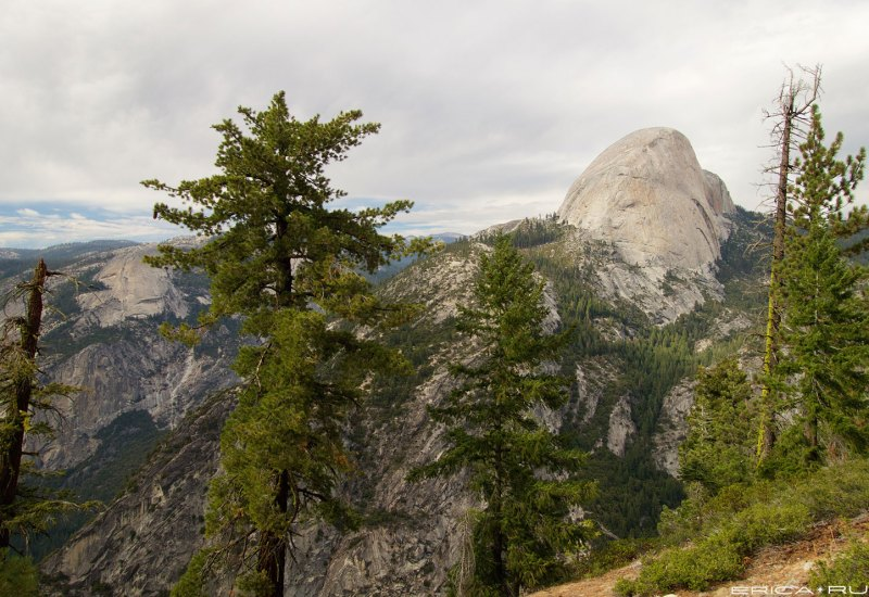View of the backside of Half Dome