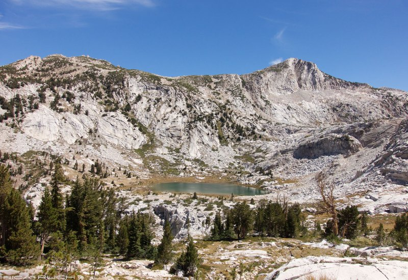 Looking back down to Squaw Lake