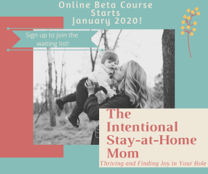 intentional stay at home mom