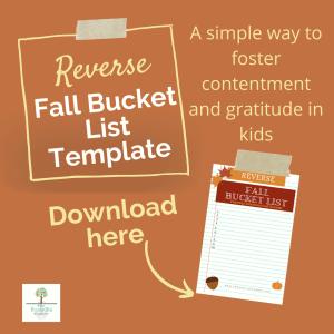 reverse fall bucket list