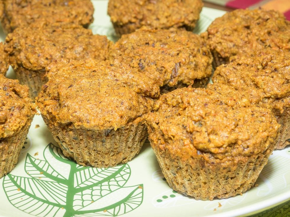 Delicious Anti-Inflammatory Plant-Based Muffins With Sweet Potato, Turmeric, Cinnamon, Ginger and Maple Syrup