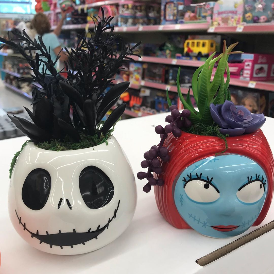 get geared up for halloween with walgreens 'nightmare before christmas' succulent planters