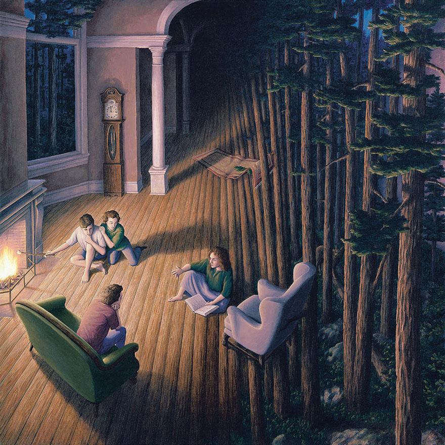 These Mind-Blowing Optical Illusion Paintings By Rob Gonsalves Will Make You Look Twice