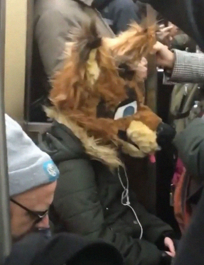 This Instagram Page Is Posting The Most Ridiculous Corona Masks Spotted On The Subway (37 Pics)