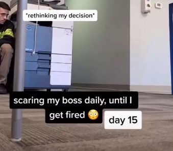 this guy decided to scare his boss every day 'until he gets fired'