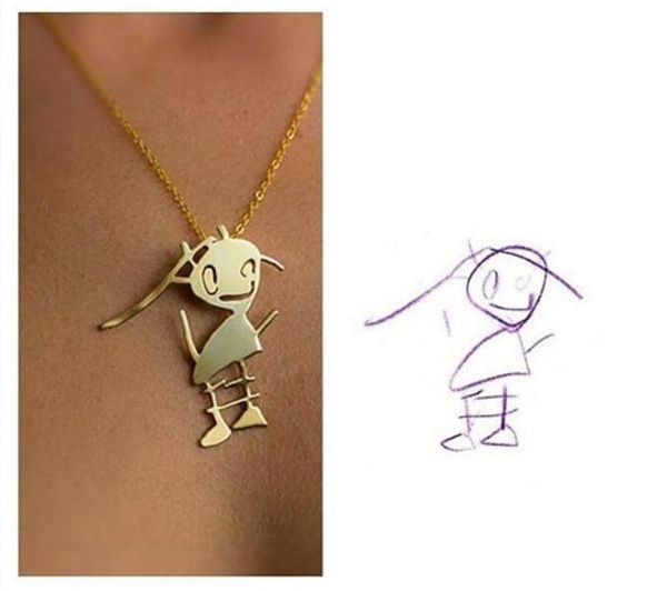 this company turns kids' artwork into unique jewelry you can keep forever