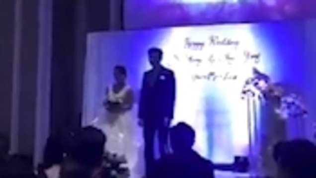 groom plays cheating wife's sex tape to wedding guests in epic revenge stunt